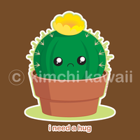 Lonely Cactus Needs A Hug by kimchikawaii