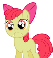 Applebloom cryface by BlondeauJ