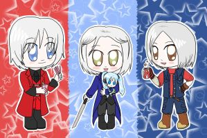Chibi Sparda Cosplayers by lillilotus