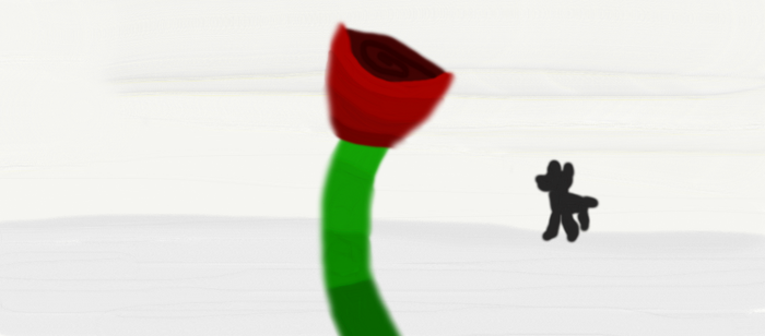 A rose in the blizzard by Zanzos