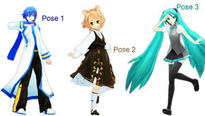 MMD Pose Pack 4 by Aisuchuu