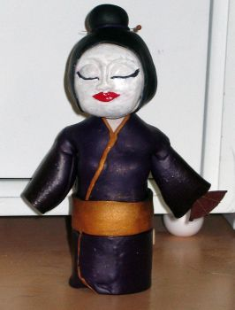 Bobble Head Geisha by middypuppy