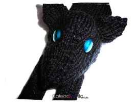 Black Wolf Scarf by Cateaclysmic