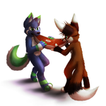[Commission] Meat for two... or Not by thanshuhai