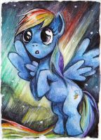 Rainbow Dash - Northern Lights by LittlePonyPrincess