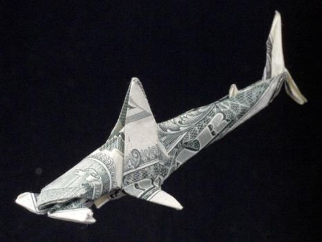 One Dollar Hammer-head Shark by orudorumagi11