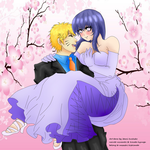 naruhina wedding day by MomoAiko