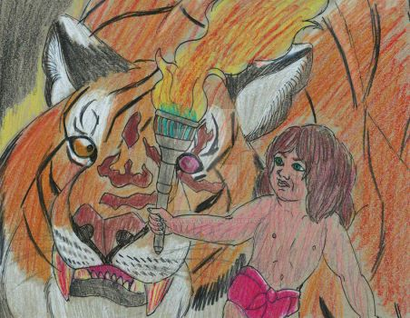 The Jungle Book - Mowgli vs. Shere Khan by imaginativegenius099