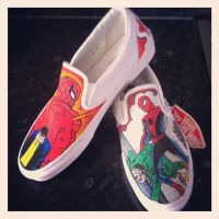 Spiderman Cover Vans by VeryBadThing