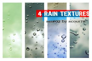4 rain textures - set 2 by scout78