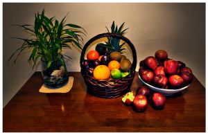 Basket Full of Fruits by jannyjanjan