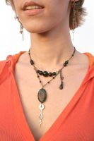 Beads and Stones OOAK Necklace by BrassIvyDesign