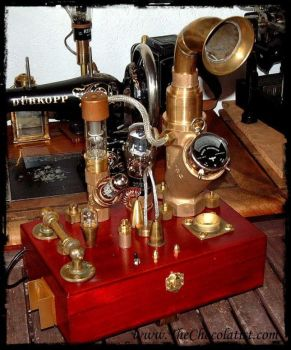 The Steampunk Expedition Audiophone by thechocolatist