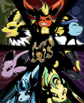 Wheel of Eeveelution by raizy