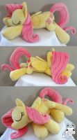 Sleeping Fluttershy Plush AT OTAKON 2014!! by JanellesPlushies