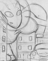 Giantess Sketch - First Uni Drawing by Colonel-Gabbo