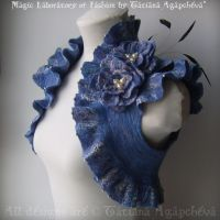 BLUE ROSE Bridal Bolero by TianaChe