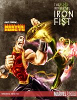Shang-Chi vs. Iron Fist by TedKimArt