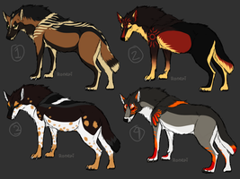 Wolf Adoptables 01 CLOSED by Roneri