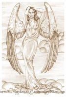 Angel in Sepia by MarjoleinART
