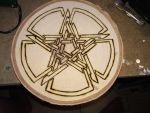 Pentacle wood burn by KuronoX51