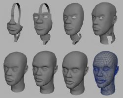 3D Face in Maya by Betelgeuze01