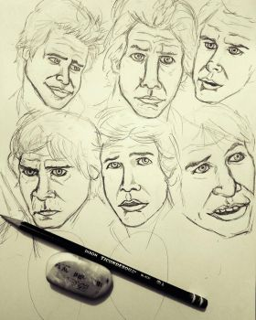 The Many Faces of Han by theClementine17