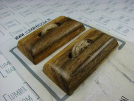 Big toggle buttons made from reclaimed Walnut by LumberRoom
