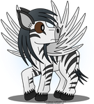 Winged Zebra-Digital Color by LordDominic