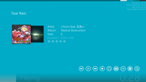 RAINMETER | Music Player Skin with color change by Maddk