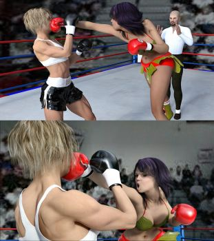 Guadalupe vs Marilyn 13 by bx2000b