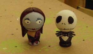 Jack and Sally Dolls by Seccrani