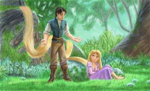 Flynn and Rapunzel by Arabesque91