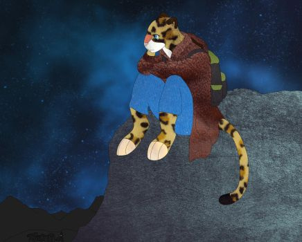 The lonely leopard by Alondra-chui
