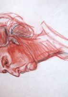 Head Drawing circa 1998ish by Diana-Huang