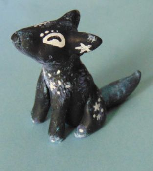 Clay Wolf Figure - Galaxy Theme by SolarCrush