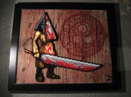 Perler Pyramid Head (Silent Hill) by Dlugo1975