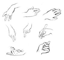 Typical Hand Study by raila