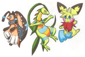 Coloured marker commissions 3 by Yakalentos