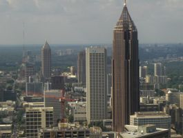 Downtown Atlanta Skyline by kevintheman