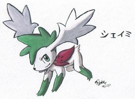 Watercolor Shaymin by Popokino