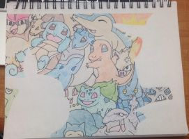 Ash and Pikachu collage by MegGreats