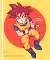 Goku Super Saiyan God by SonGohanZ