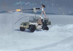 zombie killer jeep by lingy-0
