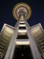 Space Needle at Night by shadowvfx