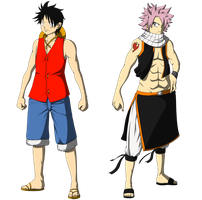 Luffy_and_Natsu by Denishellflame