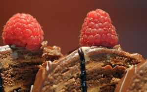 chocolate and raspberries by aperture24