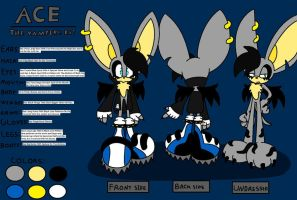 "Ace The VampireBat ""Reference"" by evil-angel13"