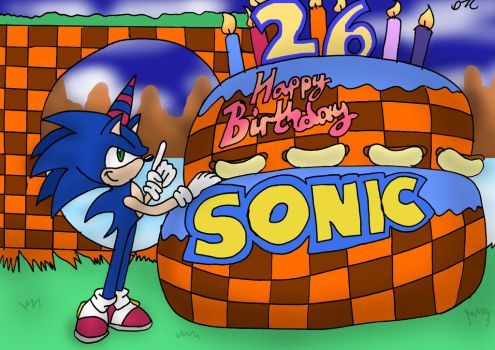Happy Birthday Sonic! by Dan-the-Countdowner