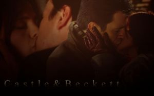 Castle-Beckett Kiss Wallpaper by michygeary